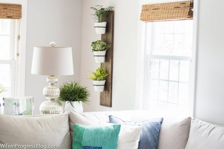 DIY Farmhouse Style Vertical Plant Holder
