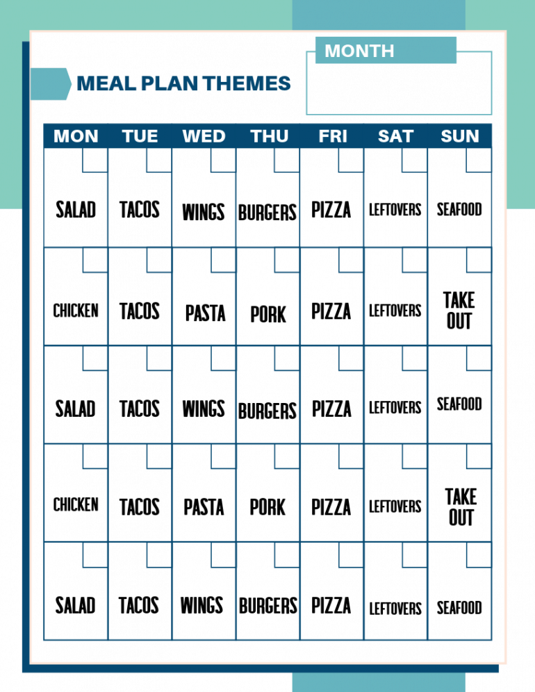 meal plan themes