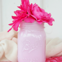 Milk Glass Mason Jar DIY: Easy Spring Decor