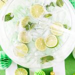 St. Patrick's Day Mojito Sherbet Punch Recipe