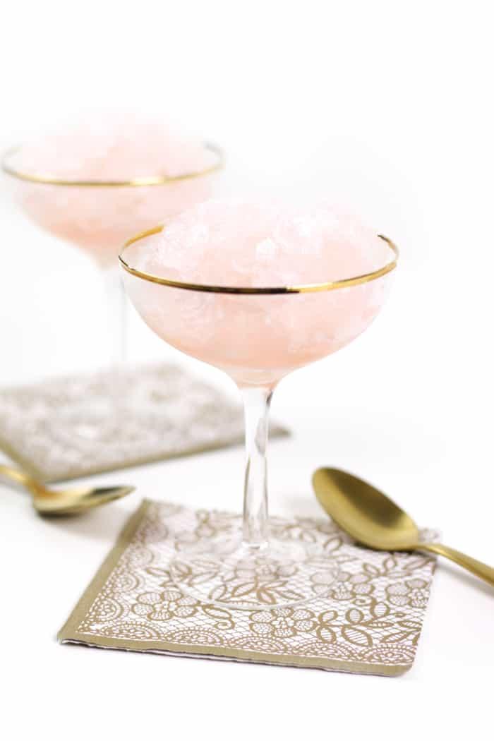 Rosé Wine Granita