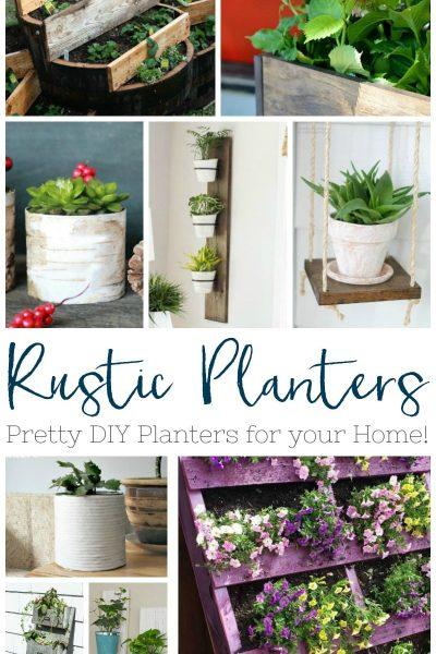 rustic planters