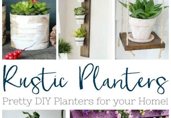 Creative DIY Rustic Planters