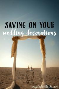 Save Wedding Decorations