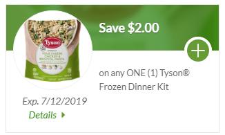 Tyson Dinner Kit Sale
