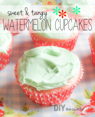 Sweet and Tangy Watermelon Cupcakes